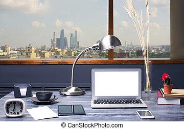 Designer desk front