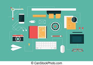 designer desk header