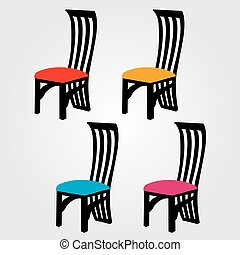 Designer dining chair graphic