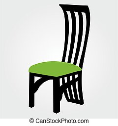 dining chair clipart. designer dining chair graphic clipart i