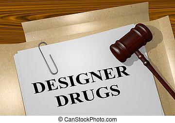 Designer Drugs concept - 3D illustration of 'DESIGNER DRUGS'...