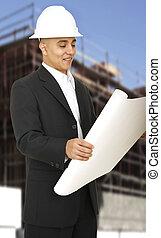 Designer Holding Paper