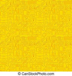 Designer Line Seamless Pattern