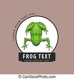 Designer logo with a frog