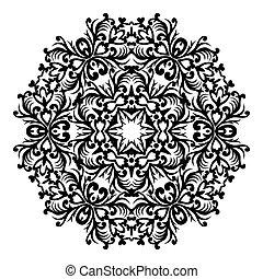 designer., ornement, valise, élément, traditionnel, victorien, vecteur, orné, floral 8, baroque, eps, style., decor., rond, design.