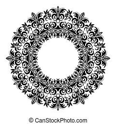 designer., ornement, valise, élément, traditionnel, victorien, vecteur, orné, floral 8, baroque, eps, style., decor., design.