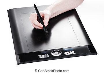 Designer paint with digital tablet