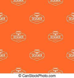 Designer pattern vector orange for any web design best