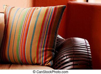 A photograph of Designer pillows