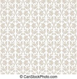 Designer seamless floral wallpaper