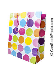 designer spotty shopping bag