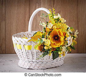 Designer wicker basket for celebration Easter