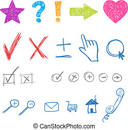 designers creative icons set for website. Vector elements