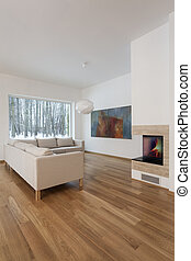 Designers interior - living room with fireplace - Designers ...