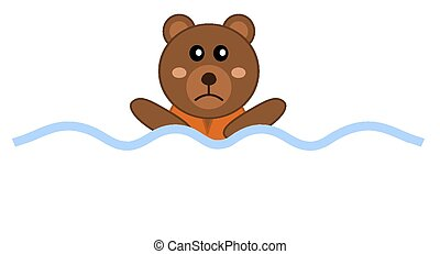 designing drowning with a teddy bea
