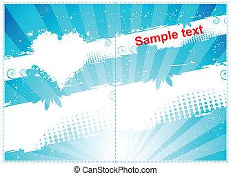 design.place, regalo, texto, here., su, tarjeta