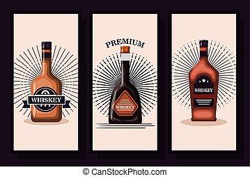 designs of bottles whiskey liquor