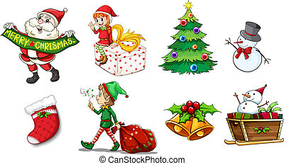 Designs showing the spirit of christmas - Illustration of...