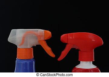 desinfektion, hygiene, schutz, putzen, sorgfalt, diffuser, sprays, instrumente