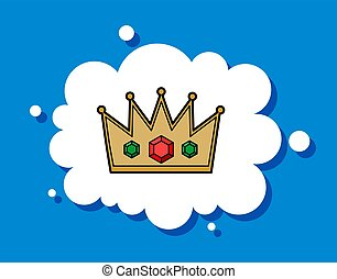 desire to have power, to be king. The dream of the crown. The symbol of power. Cloud speech.