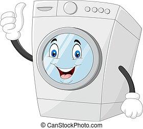 desistimiento, máquina, mascota, pulgares, lavado