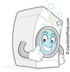 desistimiento, máquina, pulgares, lavado