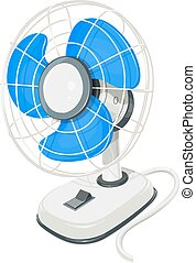 Desk air electric fan with button - Desk air fan. Device for...
