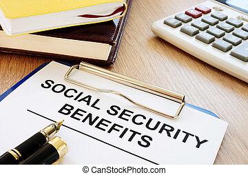 desk., benefits., área de transferência, segurança, social