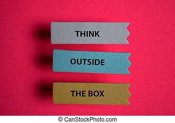 desk., box, osamocený, úřad, napsat, mimo, lepkavý věnovat pozornost, přemýšlet