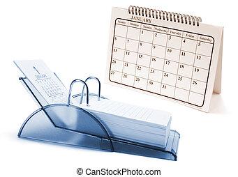 Desk Calendars on Isolated White Background