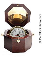 desk clock in rosewood box - desk clock inside rosewood box ...