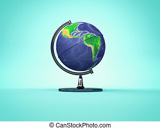 Desk Earth globe with American continents side