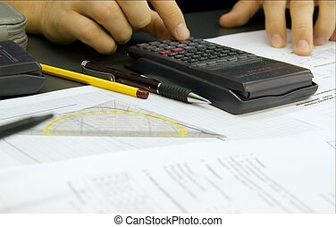 Desk - Engineer workin at his desk