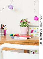 Desk in child's room