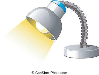 Marvelous ... Desk Lamp   Desk Lamp Over White. EPS 8, AI, JPEG