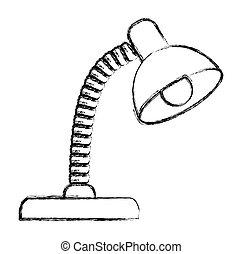 Desk lamp illustration