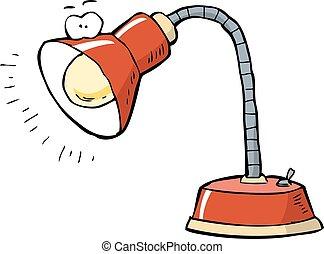 desk lamp clipart. desk lamp on a white background vector illustration clipart