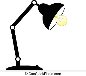 Beautiful ... Desk Lamp   Isolated On White Background. Vector Eps 10