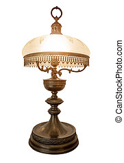 Desk lamp shade, isolated. Vintage old.