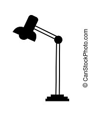 Desk lamp silhouette