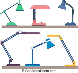 Desk lamps collection