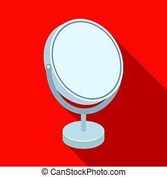 Desk mirror. Barbershop single icon in flat style vector symbol stock illustration web.