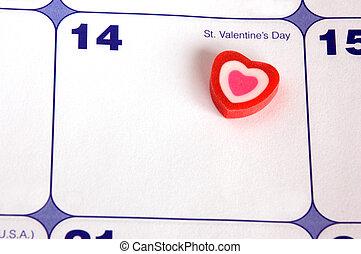 Valentine's Day - Desk Planning Calendar For Valentine's Day