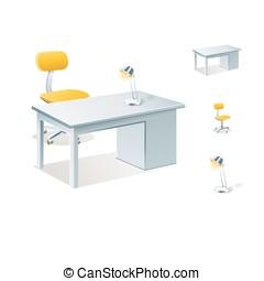 desk table vector illustration