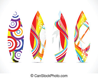 deska, barwny, fale przybrzeżne, abstrakcyjny