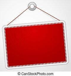 deska, czerwony, znak