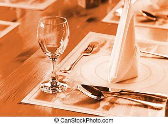 deska, glasse, deska, restaurace
