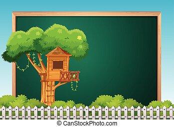 deska, szablon, treehouse