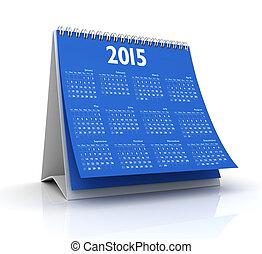 Desktop Calendar 2015 isolated in white background