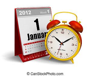 Desktop calendar and alarm clock - Desktop calendar and...